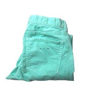 J. Crew Matchstick Mint Green Corduroy Jeans